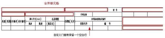 定制CAD门窗表(总表)的表格编辑(下)