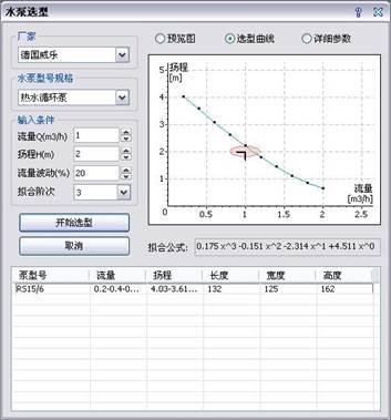 CAD中水泵选型的方法