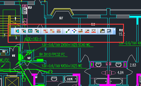 CAD中弱电平面功能介绍