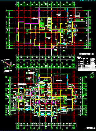 多楼栋建筑设计CAD图纸