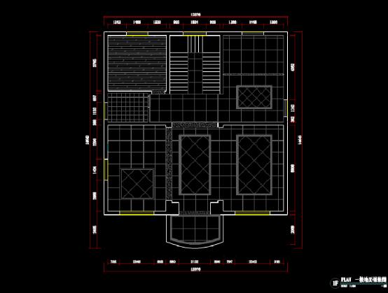 小区一楼CAD建筑装饰图纸