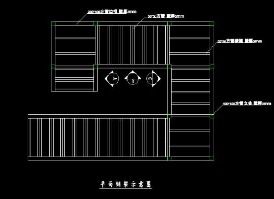 钢结构楼梯结构设计CAD图纸