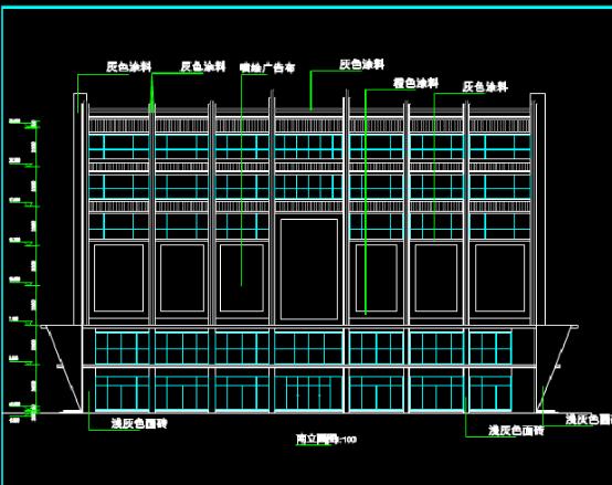 建筑带地下室CAD图纸