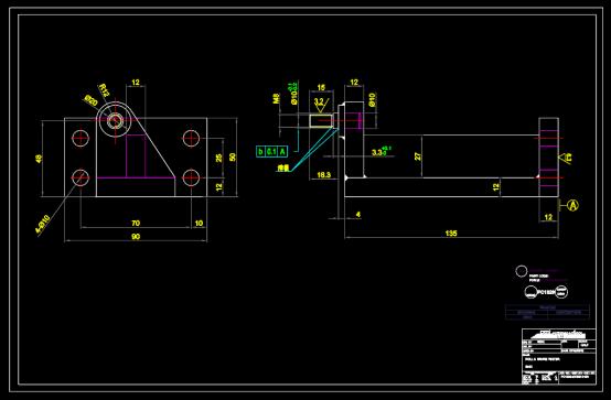 零部件练习CAD图纸