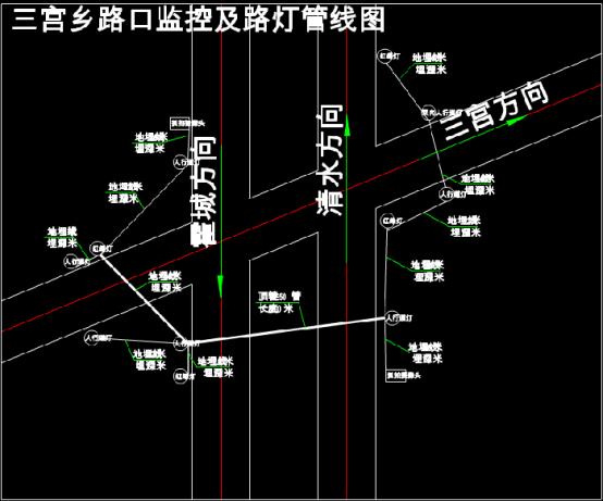 道路监控及路灯管线CAD图纸
