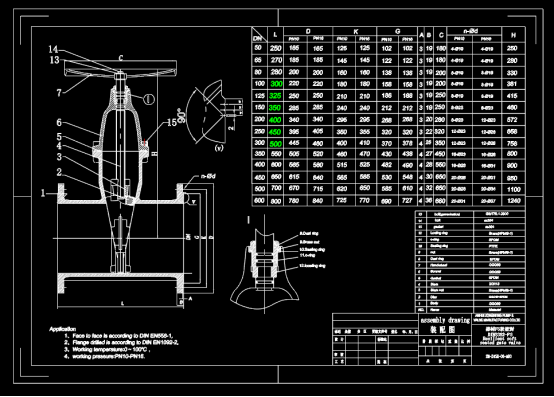 螺盖软密封闸阀CAD设计图纸