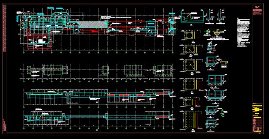 涂装车间结构CAD图纸