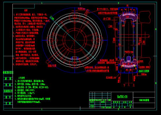 磨棍有环形槽型板模具CAD图纸
