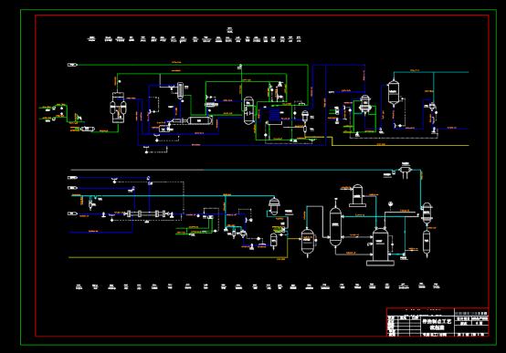 带控制点工艺流程CAD图纸