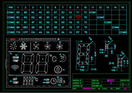 液晶屏设计方案CAD图纸