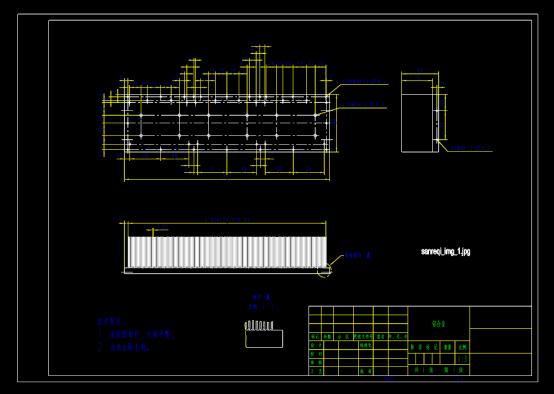 铝合金模块散热器CAD图纸