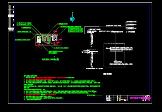 锅炉房燃气管道施工CAD图纸