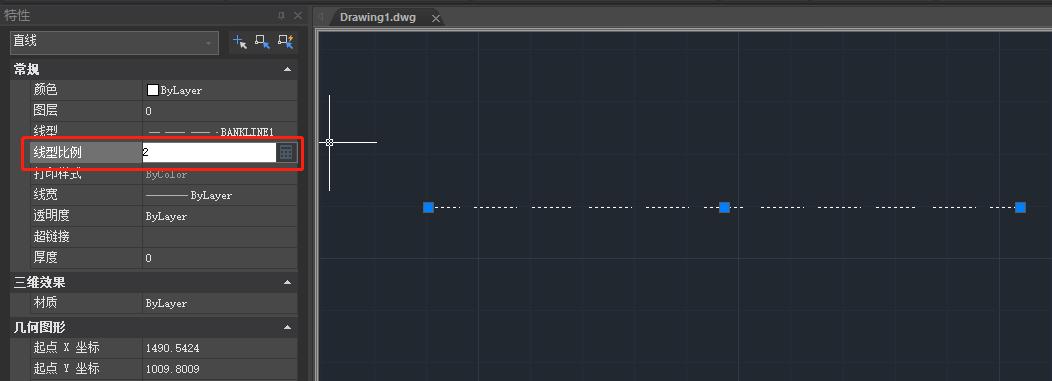 CAD虚线比例怎么调?CAD线型比例设置
