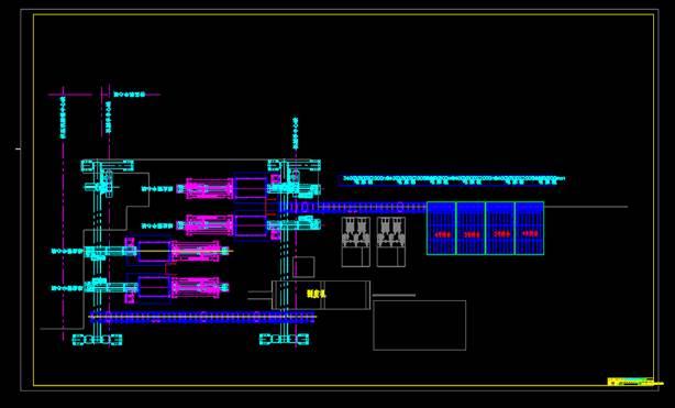 左手机工位布置CAD图纸
