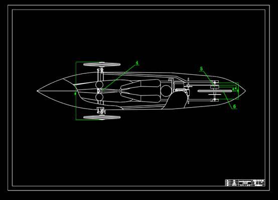 交通运输总体设计俯视CAD图纸