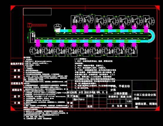 自动分检设计方案CAD图纸