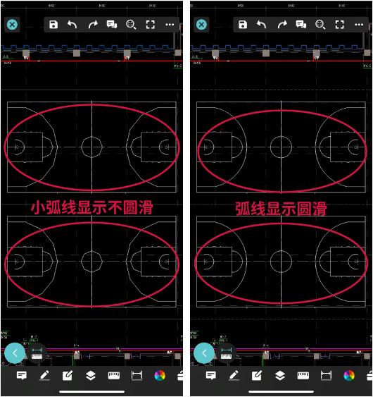 用手机查看图纸时CAD圆弧显示不圆滑怎么办?