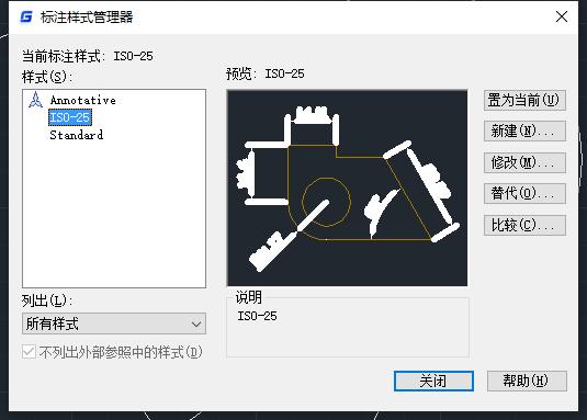 CAD标注样式管理器中标注预览显示不清楚怎么办?