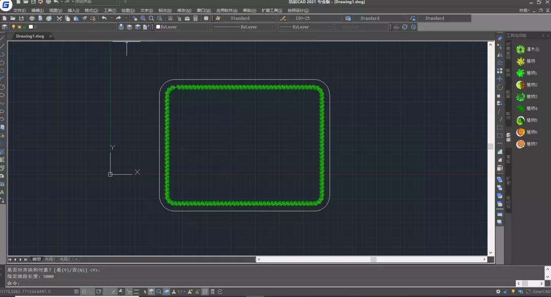 浩辰CAD一键种树?你不知道的CAD图块使用技巧!