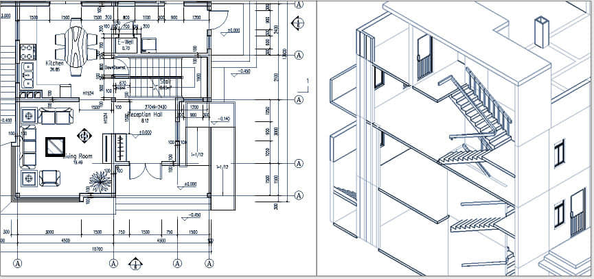 浩辰CAD建筑_3D模型