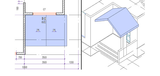 浩辰CAD建筑_屋顶