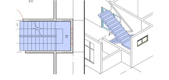 浩辰CAD建筑_楼梯
