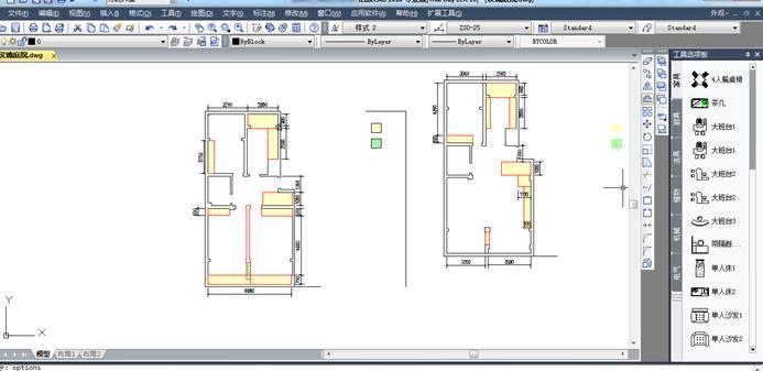 CAD软件中如何对工具选项板中不同分类之间来回复制粘贴?