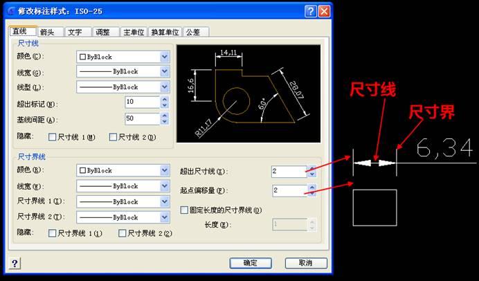 如何使用CAD标注样式功能