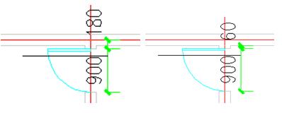 CAD尺寸标注:内门标注的使用教程(二)