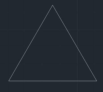 CAD看图软件基础教程之绘制等边三角形