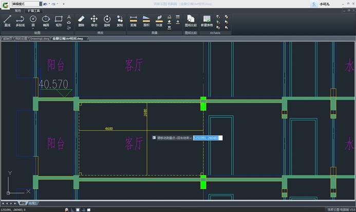 CAD看图软件基础教程之快速测量房间的长宽