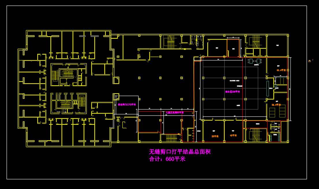 室内设计CAD平面室内图-空调