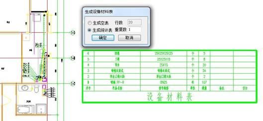 CAD入门学习之给排水CAD软件中怎么统计材料?