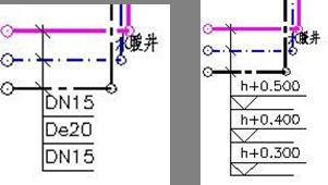 CAD中怎么标注截线穿过的管线管径及标高?
