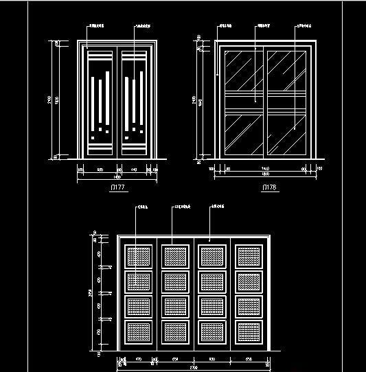 DWG图纸中门窗插入方式一:满墙段插入方式