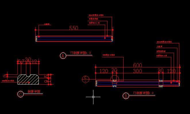 CAD标注:两点标注和内门标注的使用教程