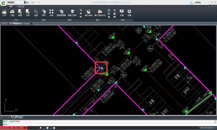 CAD看图软件基础教程之插入坐标点