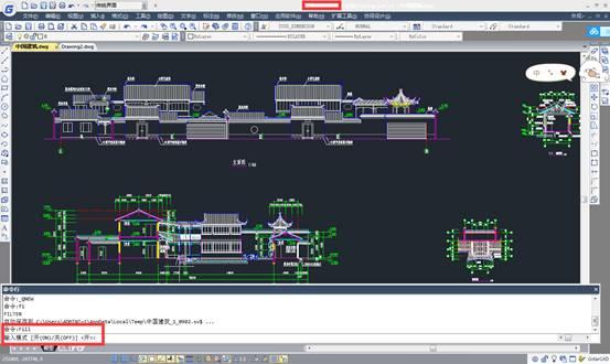 CAD填充教程之控制填充、文字等图形显示效果