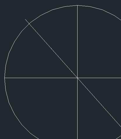 CAD等分圆形的步骤