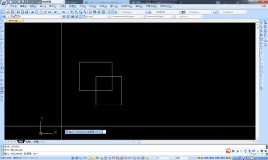 CAD中如何修改图形的厚度