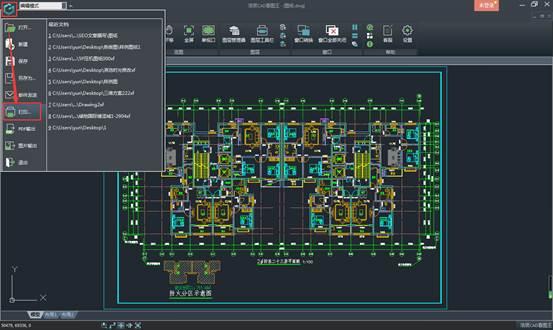 CAD看图软件中如何打印图纸