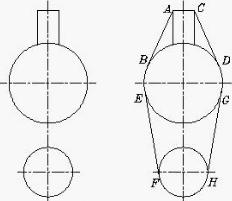 CAD两圆切线的实例绘制