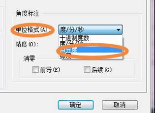 CAD角度标注转换