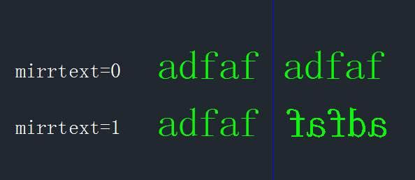 CAD镜像文字保持不变