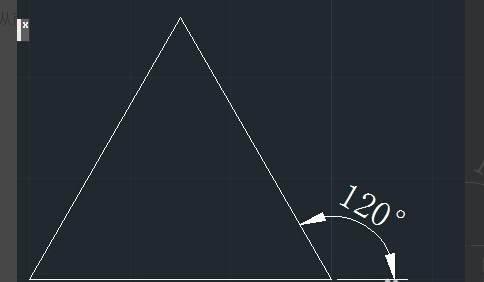 CAD画等边三角形的绘制案例