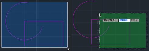 CAD框选颜色显示教程之左右选择的区别以及如何去掉框选的颜色