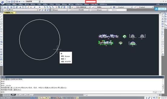 CAD打断圆教程之通过打断圆获得圆弧