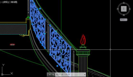 CAD铺设图案之不规则区域二