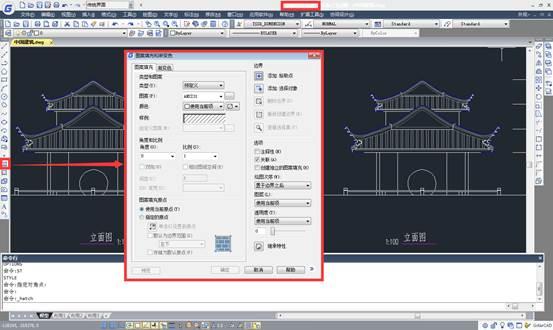 CAD无边界图案填充只CAD图形不完全闭合区域填充