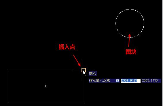 CAD图块插入点定义失败